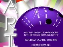 40 Free Printable Bowling Party Invitation Template With Stunning Design for Bowling Party Invitation Template