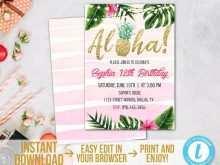 40 How To Create Hawaiian Party Invitation Template in Word with Hawaiian Party Invitation Template