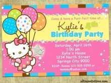 41 Best 7Th Birthday Invitation Template Hello Kitty Maker with 7Th Birthday Invitation Template Hello Kitty