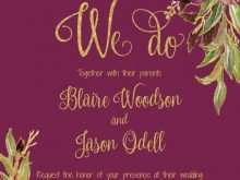 41 Creative Marsala Wedding Invitation Template for Ms Word with Marsala Wedding Invitation Template
