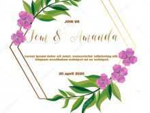 Blank Wedding Invitation Templates Vector