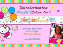 41 Online 7Th Birthday Invitation Template Hello Kitty Formating by 7Th Birthday Invitation Template Hello Kitty