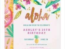 41 Online Hawaiian Party Invitation Template Maker with Hawaiian Party Invitation Template