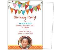 41 Visiting Birthday Party Invitation Template Word With Stunning Design with Birthday Party Invitation Template Word
