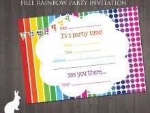 41 Visiting Rainbow Party Invitation Template For Free for Rainbow Party Invitation Template