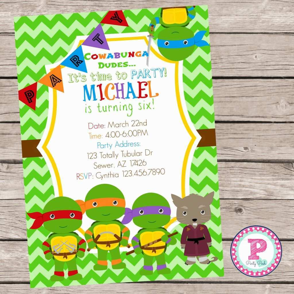 42 Best Ninja Party Invitation Template Free in Word with Ninja Party Invitation Template Free