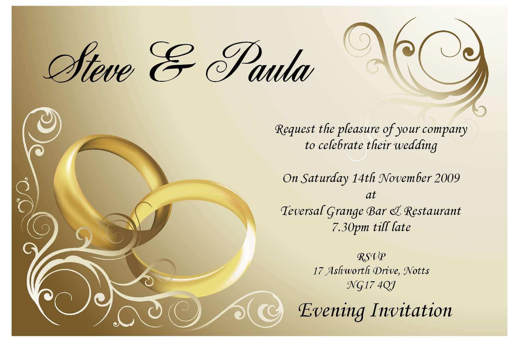 Indian Wedding Invitation Card Design Blank Template - Cards