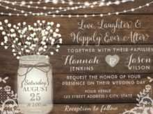42 Free Wedding Invitation Template Mason Jar With Stunning Design with Wedding Invitation Template Mason Jar