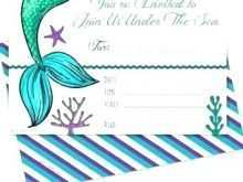43 Standard Ariel Birthday Invitation Template For Free with Ariel Birthday Invitation Template