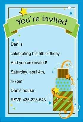 43 The Best Birthday Invitation Template Boy Now by Birthday Invitation Template Boy