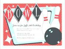 44 Creating Bowling Party Invitation Template For Free with Bowling Party Invitation Template