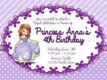 44 Free Sofia The First Invitation Blank Template in Word for Sofia The First Invitation Blank Template