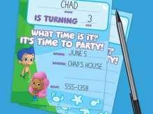 45 Adding Blank Bubble Guppies Invitation Template Now for Blank Bubble Guppies Invitation Template