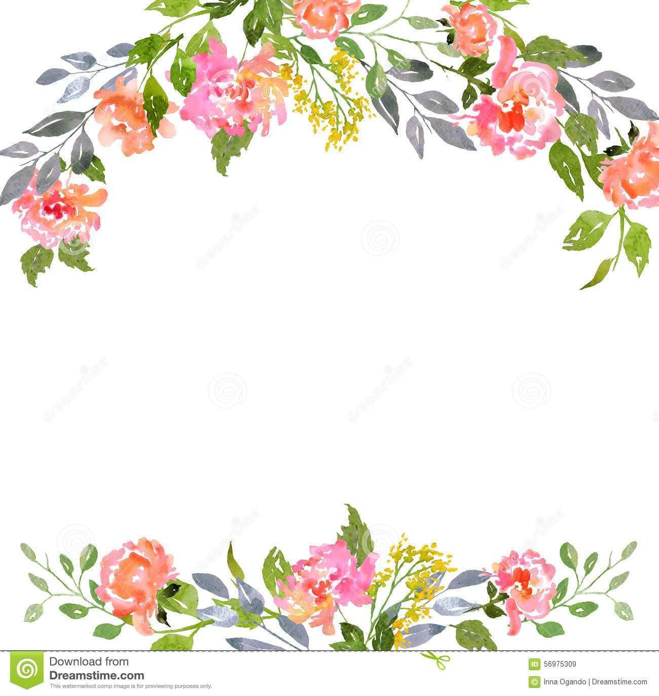 45 Online Floral Blank Invitation Template PSD File by Floral Blank Invitation  Template - Cards Design Templates