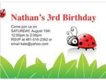 46 Customize Blank Ladybug Invitation Template Download with Blank Ladybug Invitation Template