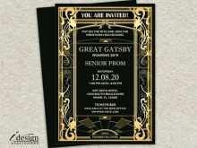 46 Online Gatsby Wedding Invitation Template Free Layouts by Gatsby Wedding Invitation Template Free