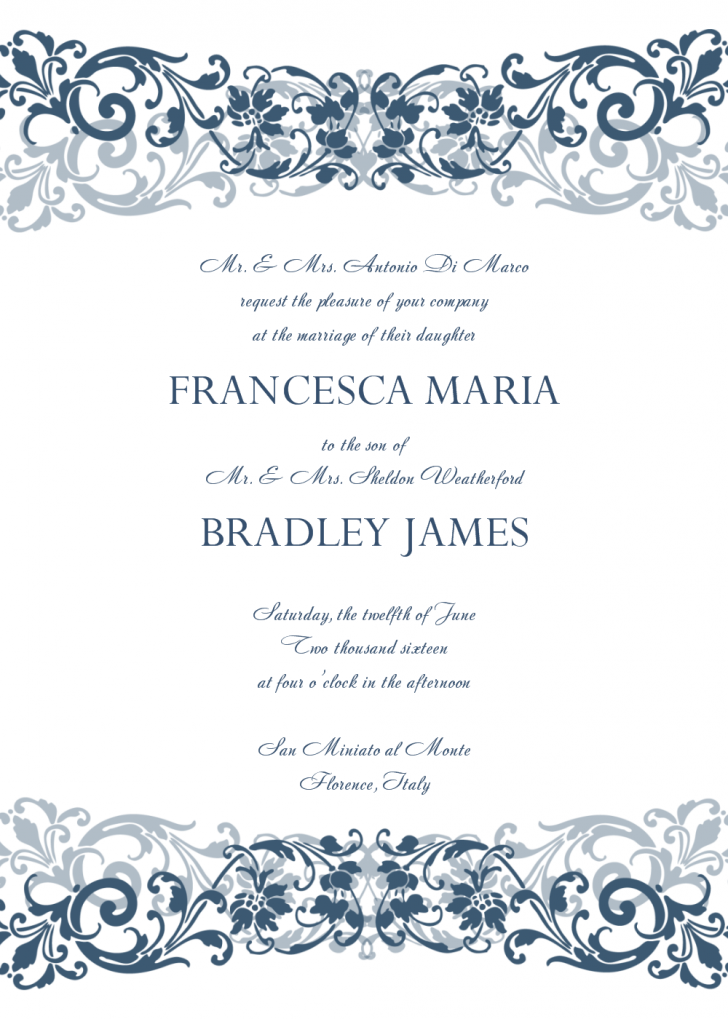 47 Report Pages Wedding Invitation Template Mac For Free By
