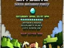 48 Creating Minecraft Party Invitation Template Formating by Minecraft Party Invitation Template