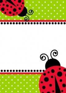 48 Customize Blank Ladybug Invitation Template With Stunning Design by Blank Ladybug Invitation Template