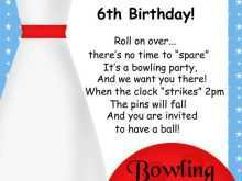 48 Online Bowling Party Invitation Template With Stunning Design with Bowling Party Invitation Template