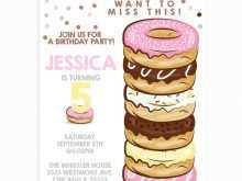 48 Online Donut Birthday Invitation Template in Photoshop by Donut Birthday Invitation Template