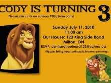 48 Visiting Lion King Birthday Invitation Template Free Layouts by Lion King Birthday Invitation Template Free