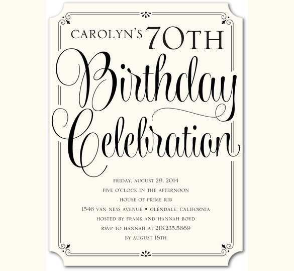 49 Blank Birthday Invitation Template Black And White Photo For