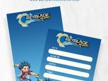 49 Free Printable Beyblade Birthday Invitation Template Formating for Beyblade Birthday Invitation Template