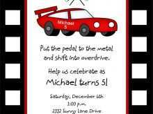 50 Report Birthday Invitation Template Cars Templates for Birthday Invitation Template Cars
