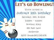 50 Standard Bowling Party Invitation Template in Word for Bowling Party Invitation Template
