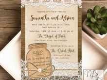 51 Best Wedding Invitation Template Mason Jar Formating for Wedding Invitation Template Mason Jar