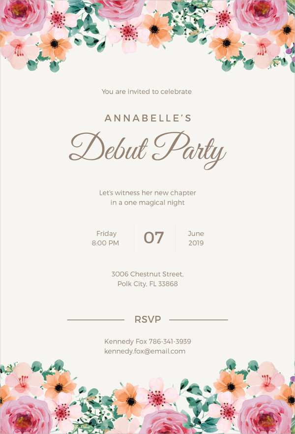 51 Creating Invitation Card Debut Layout in Word with Invitation Card Debut Layout