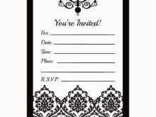 51 Creative Birthday Invitation Template Black And White Download for Birthday Invitation Template Black And White