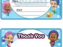 Blank Bubble Guppies Invitation Template
