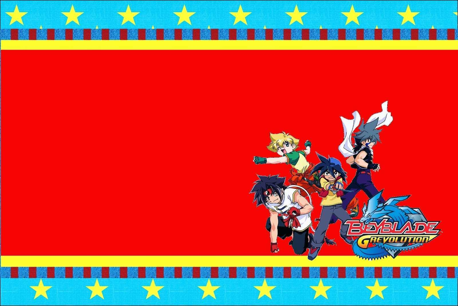 51 Customize Our Free Beyblade Birthday Invitation Template Download with Beyblade Birthday Invitation Template