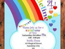 51 Printable Rainbow Party Invitation Template Now with Rainbow Party Invitation Template
