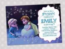 51 Visiting Frozen Birthday Invitation Blank Template for Ms Word by Frozen Birthday Invitation Blank Template