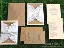 Kraft Paper Wedding Invitation Template