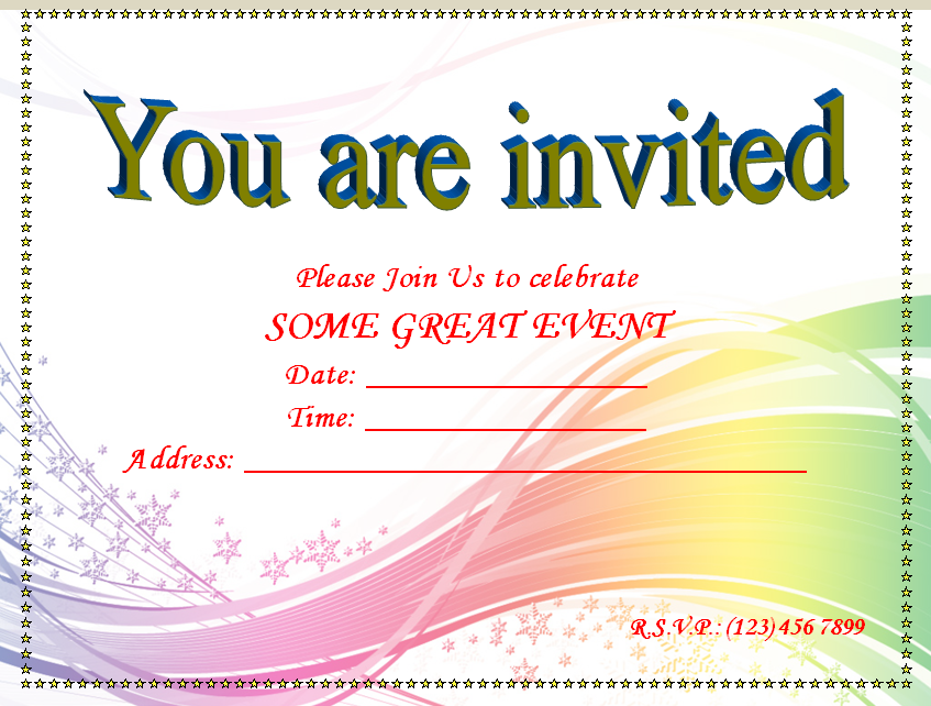 52 Report Blank Invitation Template Word Photo by Blank Invitation Template Word