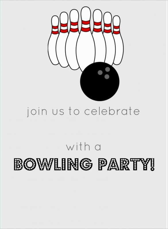 52 The Best Bowling Party Invitation Template Word Now with Bowling Party Invitation Template Word