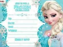 53 Best Frozen Birthday Invitation Blank Template PSD File with Frozen Birthday Invitation Blank Template