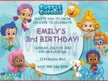53 Creating Blank Bubble Guppies Invitation Template Now for Blank Bubble Guppies Invitation Template