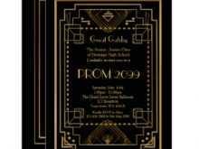 53 Creating Blank Great Gatsby Invitation Template in Word with Blank Great Gatsby Invitation Template