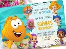 53 Creative Blank Bubble Guppies Invitation Template Now for Blank Bubble Guppies Invitation Template