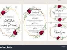 53 Creative Wedding Invitation Templates Red And White Photo with Wedding Invitation Templates Red And White