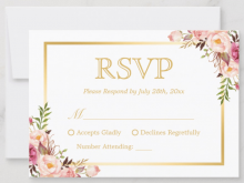 53 Format Rsvp Wedding Invitation Template With Stunning Design for Rsvp Wedding Invitation Template