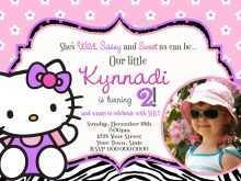 53 Online 7Th Birthday Invitation Template Hello Kitty for Ms Word by 7Th Birthday Invitation Template Hello Kitty