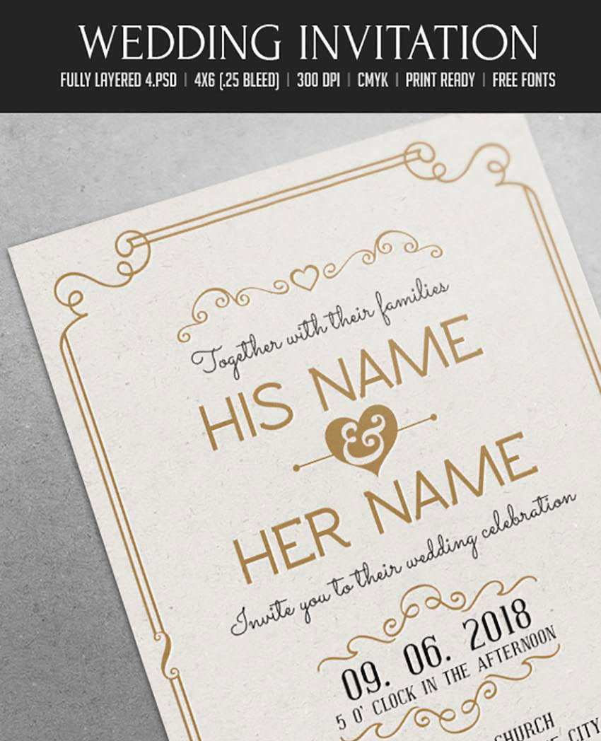 5 Standard Elegant Wedding Invitation Template After Effects Free