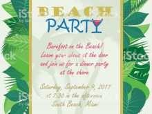54 Create Beach Party Invitation Template Maker with Beach Party Invitation Template