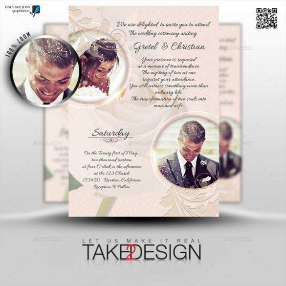54 Printable Wedding Invitation Template With Photo Layouts by Wedding Invitation Template With Photo